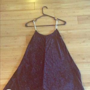 velvet and chain dress